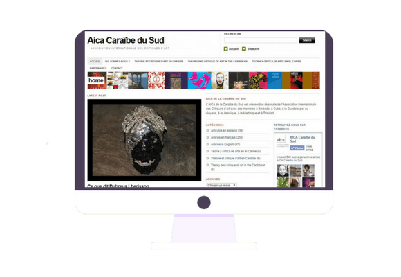 Site internet pour un plasticien