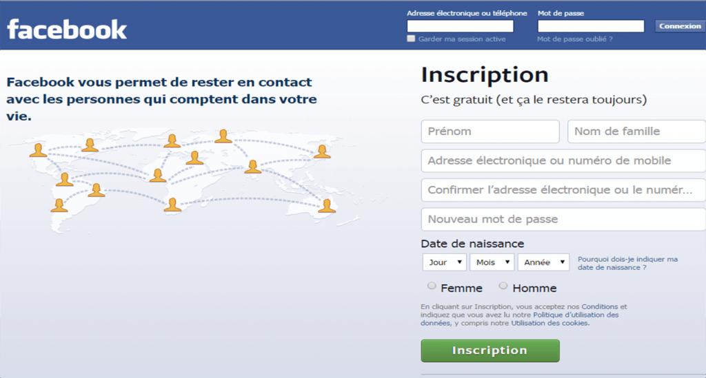 créer profil Facebook