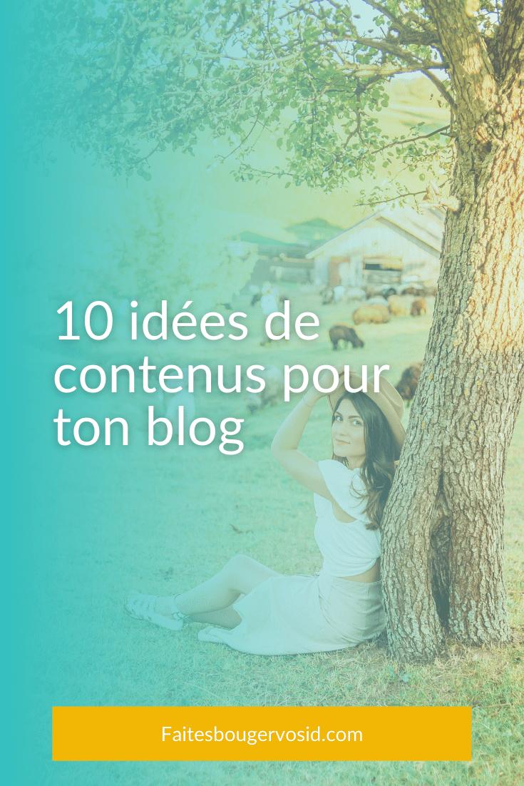 10 Idees De Contenus Pour Votre Blog Professionnel