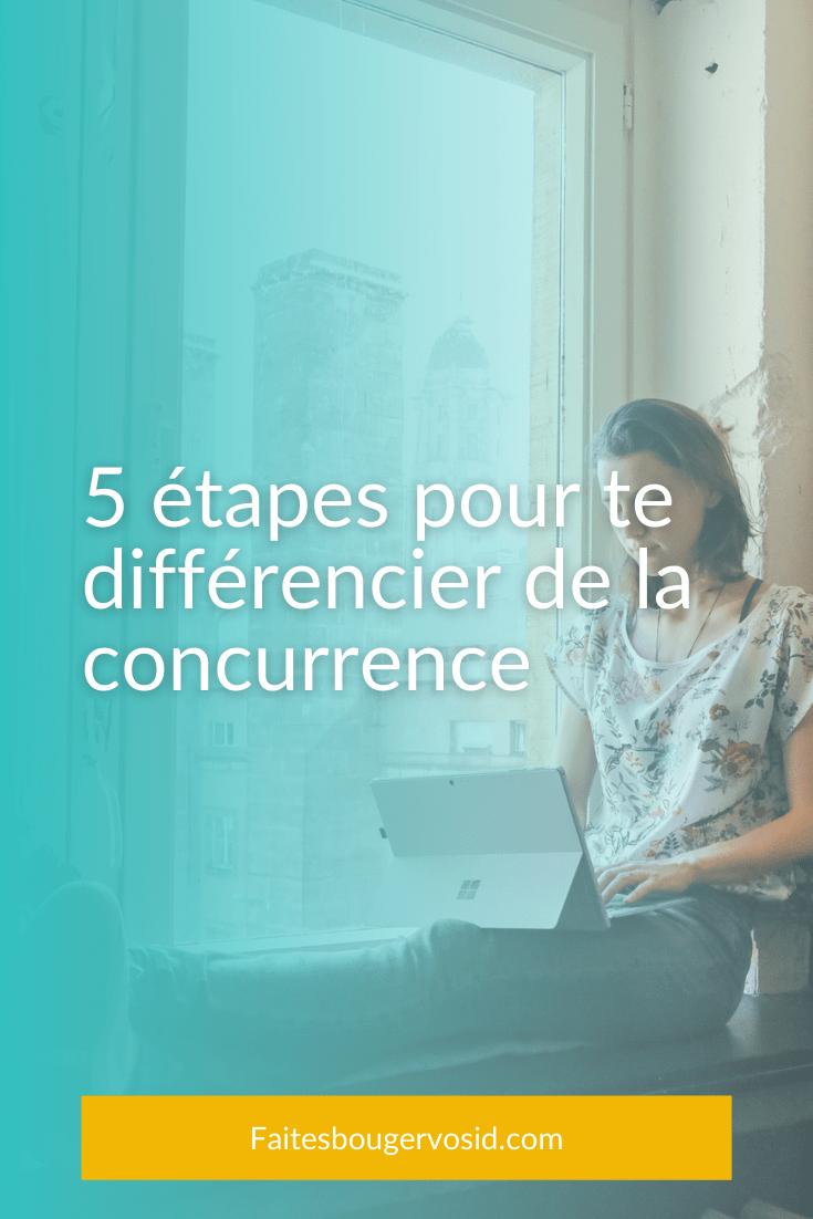 5 étapes à suivre pour te différencier de la concurrence en créant une marque basée sur ta personnalité, tes caractéristiques et tes valeurs.