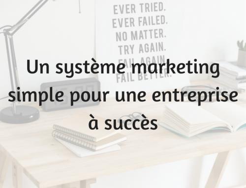 Un système marketing simple pour une entreprise à succès