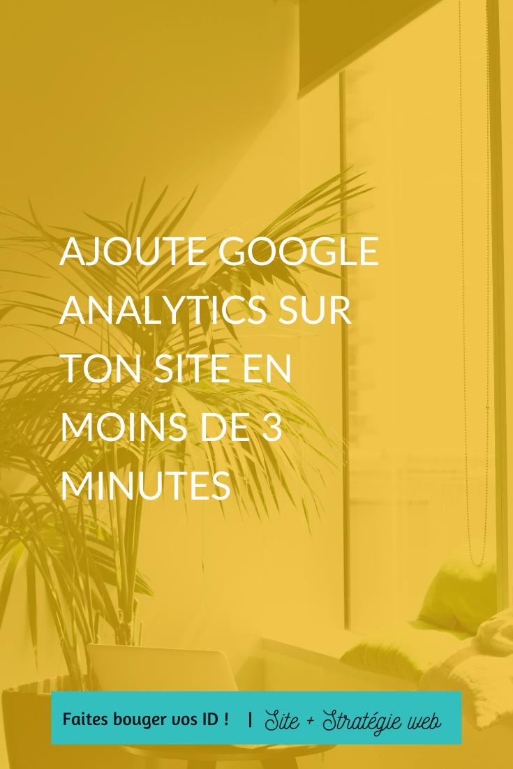Ajoutez Google Analytics, un moyen simple et gratuit de suivre les objectifs de votre site web et de collecter des données importantes sur ses performances.