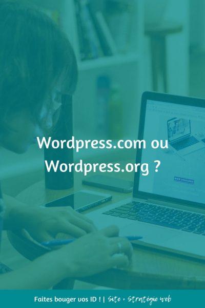 """Chaque fois qu'un entrepreneur crée son site sur, il se pose cette question : """"WordPress.org ou WordPress.com ?"""" Lisez cet article et faites votre choix."""