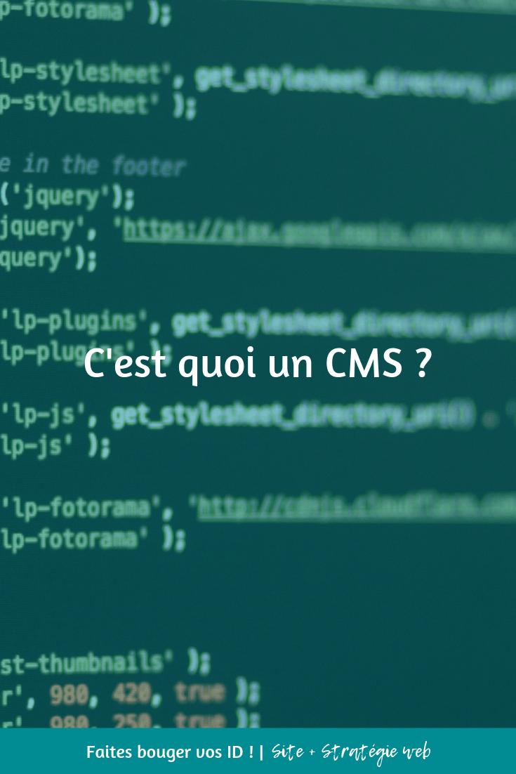 CMS = Content Management System ou Système de Gestion de Contenu (dans la langue de Molière)