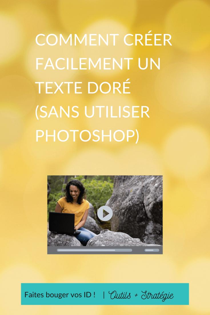 Comment Creer Facilement Un Texte Dore Sans Utiliser Photoshop