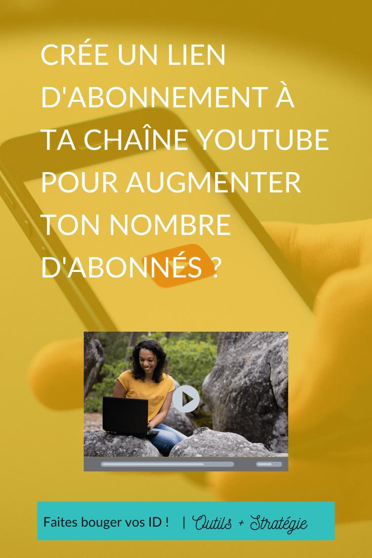 Voici un moyen facile de créer un lien d'abonnement à ta chaîne YouTube, incluant un appel à l'action pour obtenir plus d'abonnés.